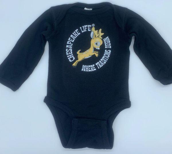 Baby Buck Long Sleeve Onesie