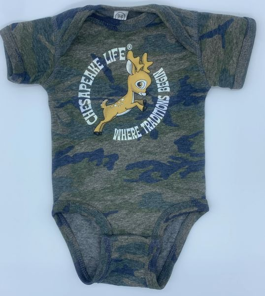 Baby Buck Short Sleeve Onesie