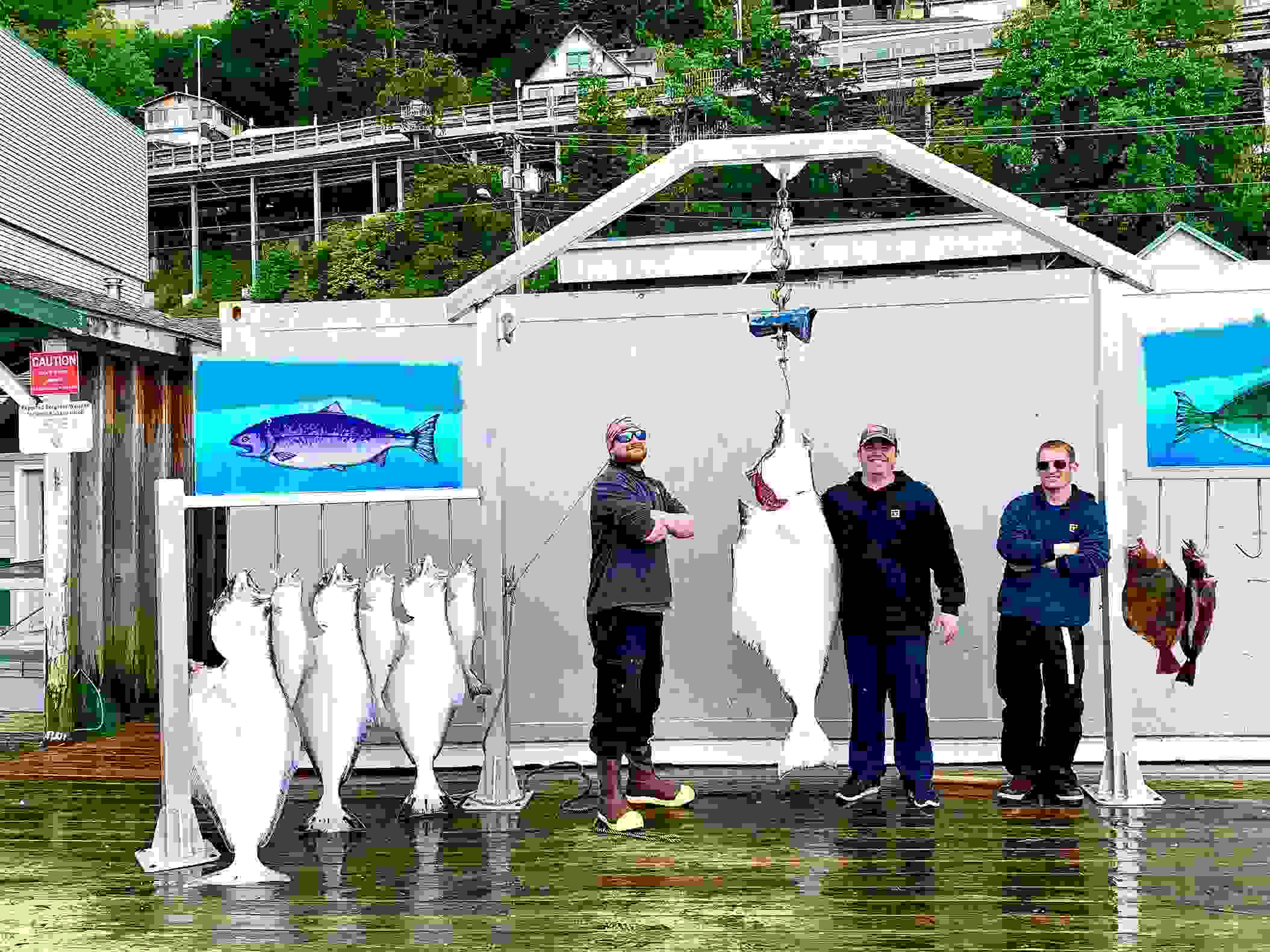 Halibut spearfishing in Ketchikan Alaska