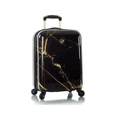 "Heys Portoro Black Marble 21"" Carry On Spinner Luggage"