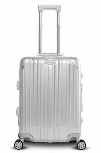"Gabbiano Aurora 29"" Aluminum Frame Hardside Spinner Luggage - Silver"