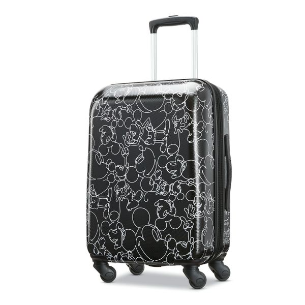 "American Tourister Disney Mickey Scribble 20"" Carry On Spinner Luggage"