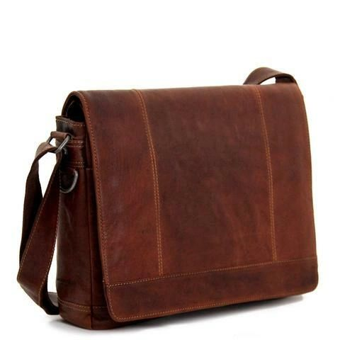 Jack Georges Voyager Full Size Leather Messenger Bag - 7315