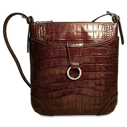 Jack Georges Croco Collection Serena Crossover Crossbody Bag - 222