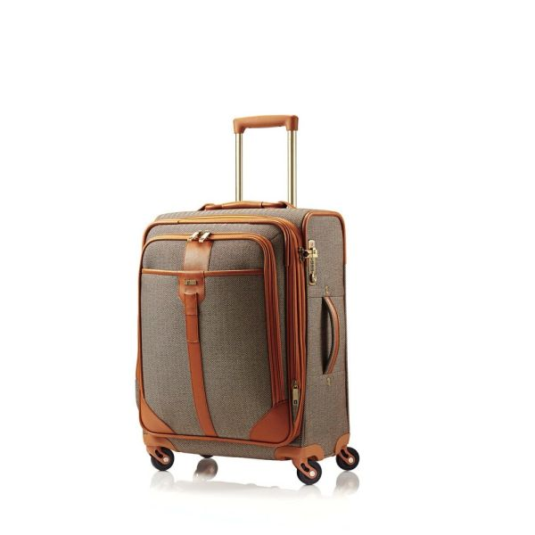 "HARTMANN HERRINGBONE 20"" LUXE SS CARRY ON SPINNER - TERRACOTTA"