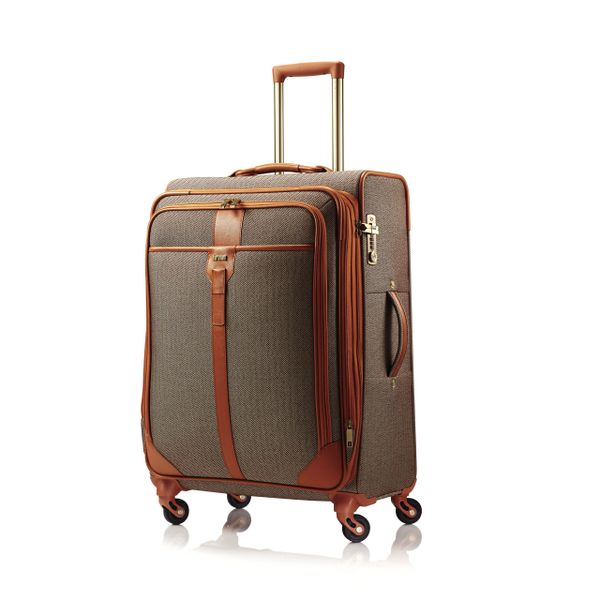 "HARTMANN HERRINGBONE 24"" LUXE SS MEDIUM SPINNER - TERRACOTTA"