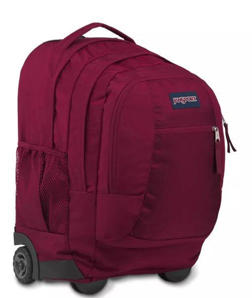 JanSport Driver 8 Rolling Wheeled Backpack - Viking Red