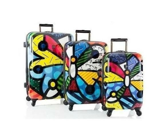 Heys Britto Butterfly 3 Piece Hardside Spinner Luggage Set