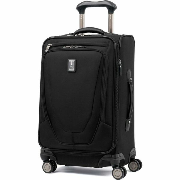 "Travelpro Crew 11 - 21"" Expandable Carry On Spinner Suiter Luggage - Black"