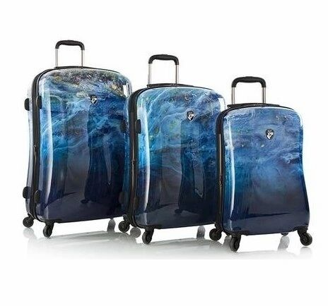 Heys America Blue Agate 3 Piece Hardside Spinner Luggage Set
