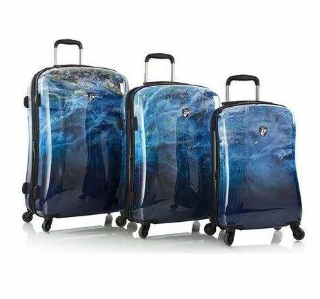 Heys America Blue Agate 3 Piece Hardside Spinner Luggage Set
