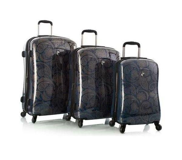 Heys Indigo Paisley 3 Piece Hardside Spinner Luggage Set