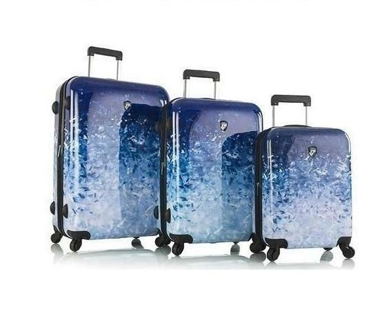 Heys Ombre Blue Skies 3 Piece Hardside Spinner Luggage Set