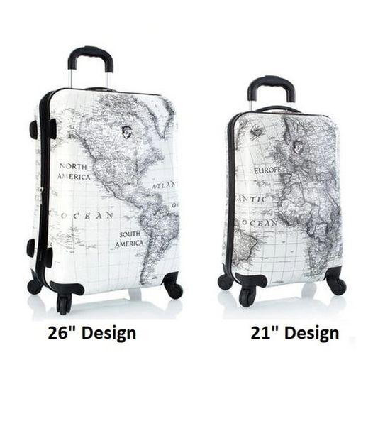 "Heys Classical World 2 Piece Hardside 21"", 26"" Spinner Luggage Set"
