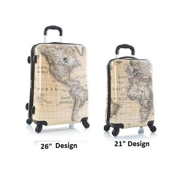 "Heys Classical World Sepia 2 Piece Hardside 21"", 26"" Spinner Luggage Set"