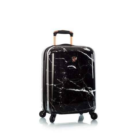 "Heys Marquina Black Marble 21"" Carry On Spinner Luggage"