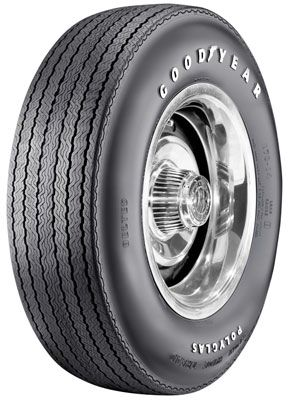 "Goodyear Polyglas E70-14 Tire ""No Size"" 1969 Mustang Mach 1"