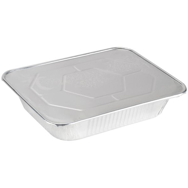 9 X 13 Half Size Deep Foil Steam Pans with Lids 30 Pack