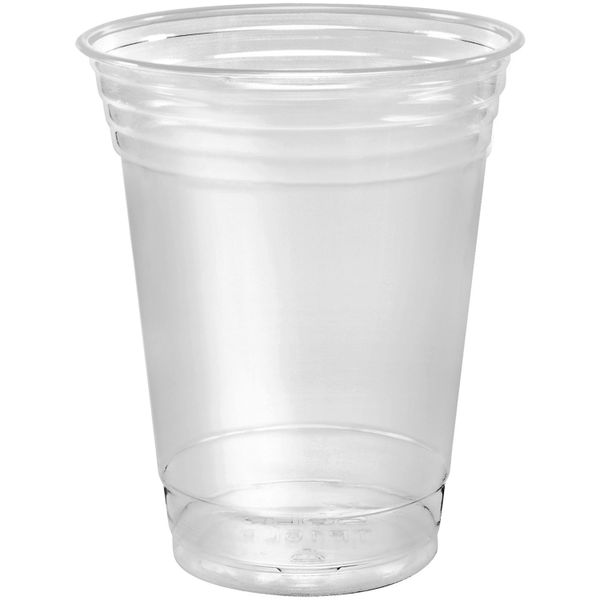 Disposable Plastic Cups 12 oz [100 Pack] Ultra Clear PET Drinking Cups, Perfect Use For Cold Drink, Party, Beer, Smoothies Premium Quality Tumblers
