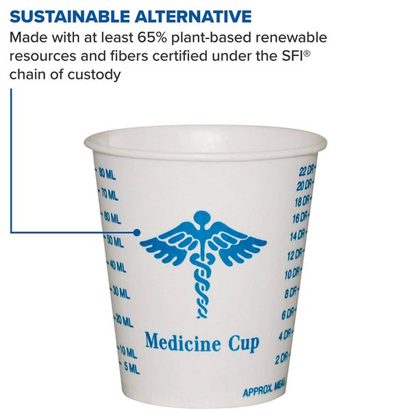 Solo R3-43107 3 oz Graduated Medicine Waxed Paper Cold Cup (Case of 5000)