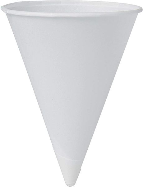 Solo 4BR-2050 4 oz White Paper Cone Cups (Case of 5000)
