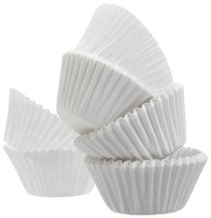 A World of Deals - 500 pcs - White Paper Cupcake Cup Liners - STANDARD Size