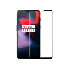 OnePlus 6 5D Tempered Glass Screen Protector Black