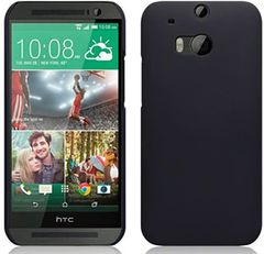HTC One M8 Mobile Back Cover Soft - Black