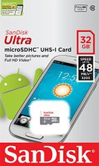 SanDisk Ultra MicroSDHC UHS-I Class 10 Memory Card - 32GB