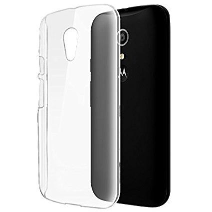 the best attitude 1dcde 25901 Moto G2 Back Case Soft - Transparent