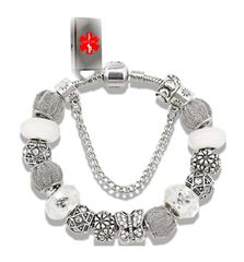 Styled after the Pandora Bracelet, we added our lifesaving touch to it with our EMR Medi-Chip .