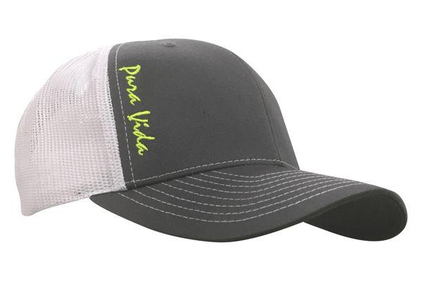 Pura Vida Charcoal / White Hat