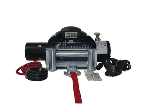 Engo 9,000 lbs. SR-Series Winch, Steel Cable With Roller Fairlead