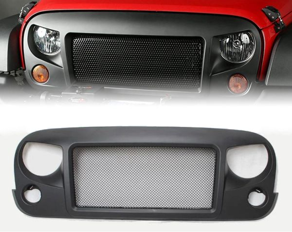 Spartan Grille with Steel Mesh for 2007-2018 Jeep Wrangler JK