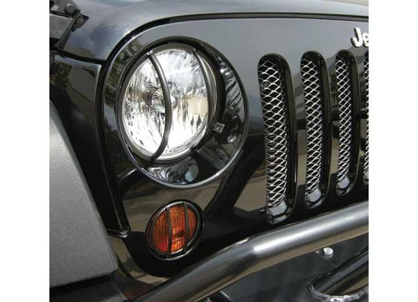 RAMPAGE HEADLIGHT GUARD 07-C WRANGLER JK 85660