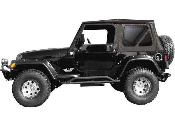 Rampage SOFT TOP 97-06 WRANGLER W/TINTED WINDOWS BLACK 99335