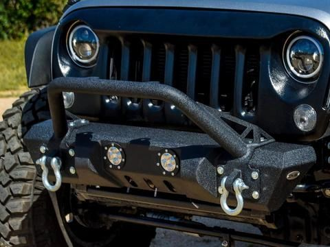 DV8 Offroad FS-13 HAMMER FORGED FRONT BUMPER Jeep Wrangler 07-18
