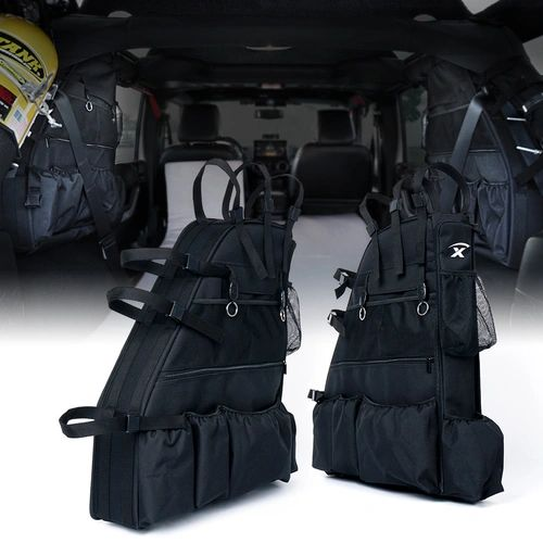 Rear Roll Bar Storage Bags for 2007-2018 Jeep Wrangler JKU 4 Door Models