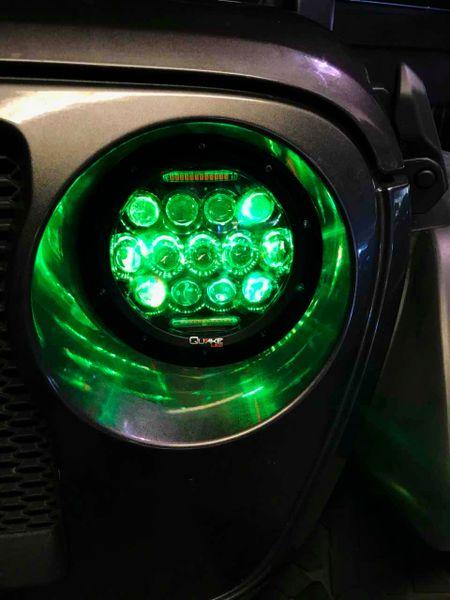Jeep JL LED Headlights w/ Turn Signal 75 Watt RGB Quake