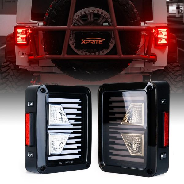 Linear Series LED Taillights For 2007 - 2018 Jeep Wrangler JK JKU