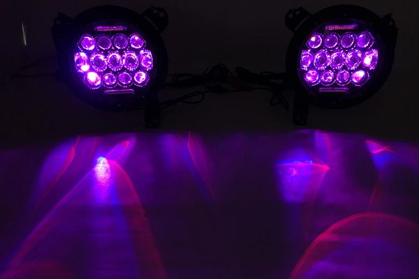 Quake LED RGB Headlights Tempest series JEEP JK/CJ/TJ