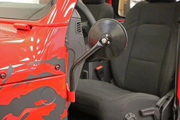 Rampage Products 7620 Black Quick Release Half Door Side Mirror for 2018 Jeep Wrangler JL 2-Door - Pair