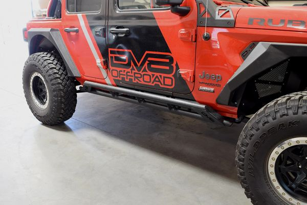 DV8 Jeep JL Tubular Rock Slider with Plated End Caps 18-Present Wrangler JL DV8 Offroad