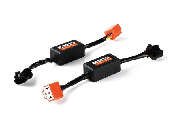 LED Headlight Canbus Wiring Kit Computer Warning Error Free Anti Flicker Resistor Canceler Decoder (Pair) (H4 TO H13)