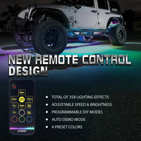 Retro Series LED RGB Dancing Underbody Glow Kit with Remote Control