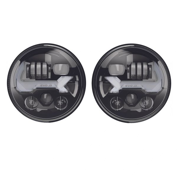JW Speaker 8700 EVO J3 LED Headlights for 07-18 Jeep Wrangler JK