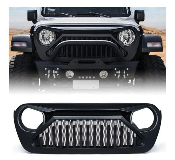 Gladiator Series Black Grille for 2018-2019 Jeep Wrangler JL Gladiator JT