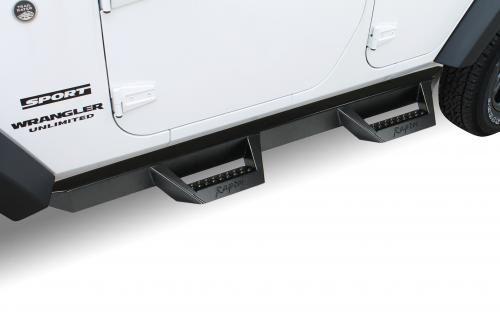 Raptor Series Black Drop Steps Jeep Wrangler 4dr JKU/JLU