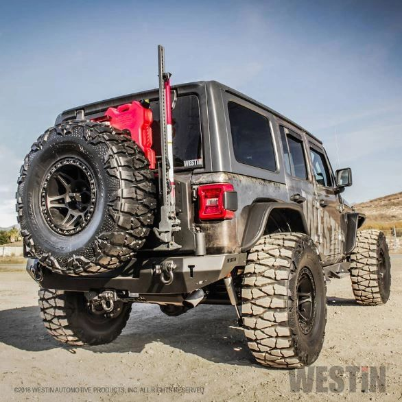 Westin WJ2 Full Width Rear Bumper w/Tire Carrier for 2018 Jeep Wrangler JL