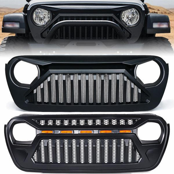 Gladiator Series Black Grille for 2018-2020 Jeep Wrangler JL Gladiator JT
